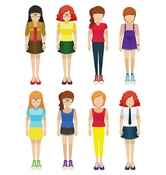 Faceless ladies vector