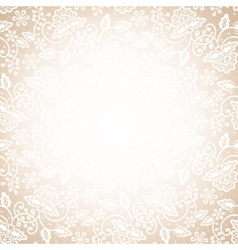 Lace frame on beige background vector