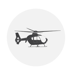 Helicopter in flight vector