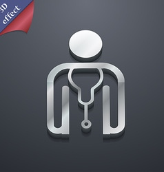 Doctor icon symbol 3d style trendy modern design vector
