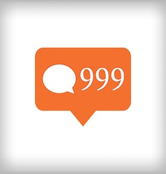 Comment orange icon 999 comments vector