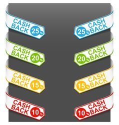 Left and right side signs - cash back vector