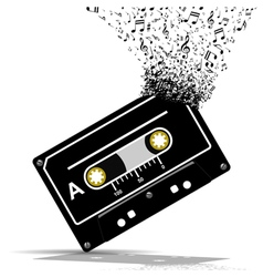 Audio cassette-music vector