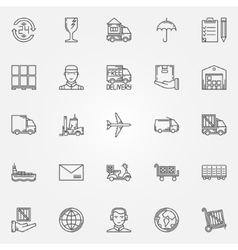 Delivery icons set vector