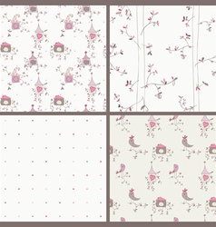bird house seamless vector image