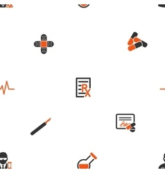 Therapy tools seamless flat wallpaper vector