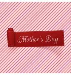 Mothers day festive scroll ribbon vector
