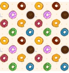 Dessert food seamless pattern with colorful vector