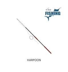 Harpoon item of fishing vector