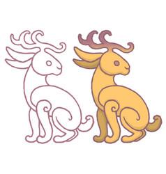 A jackalope vector