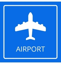 Airport sign airplane icon vector