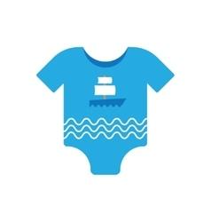 Baby clothes boy vector