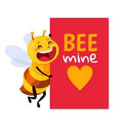 Bee be my honey vector