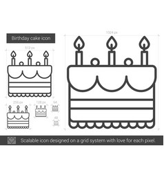 birthday cake line icon vector image