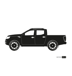 black silhouette of suv drawing of car vector image