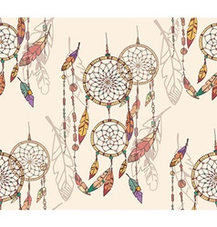 Bohemian colorful feathers seamless pattern vector