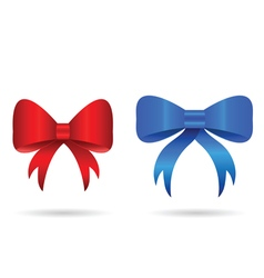 bow in red and blue color vector image vector image