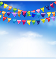 Bunting birthday flags vector