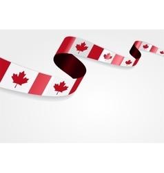 Canadian flag background vector image