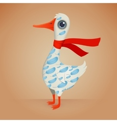 Cute Cartoon Goose vector image vector image