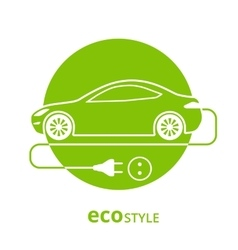 Eco style car vector image vector image