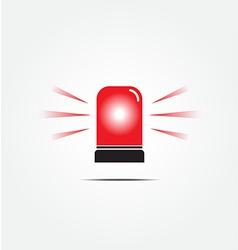 Emergency rotating beacon light vector