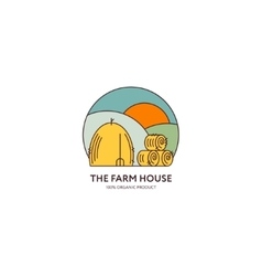 Farm House logo vector image