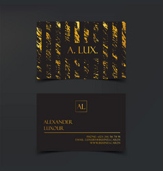 fashion elegant black luxury business cards with vector image vector image