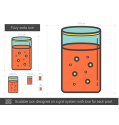 Fizzy soda line icon vector