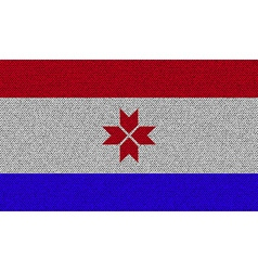 Flags Mordovia on denim texture vector image
