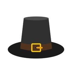 Gorgeous pilgrim hat icon vector