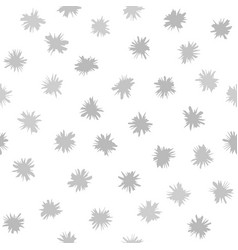 gray flower pattern seamless background vector image