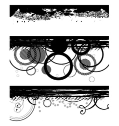 grunge black banners vector image vector image