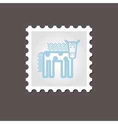 Horse stamp outline vector