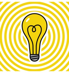 Lamp on yellow ripple background vector