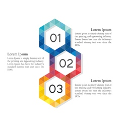 Low poly abstract hexagon infographic elements vector