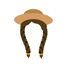Nice hair with hat in the head vector