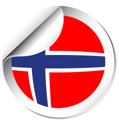 Norway flag in sticker design vector