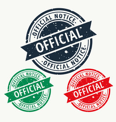 official notice stamp vector image