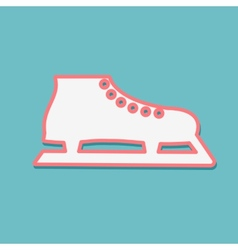 One white skate on a blue background vector image vector image