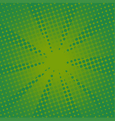 Retro rays comic green background vector