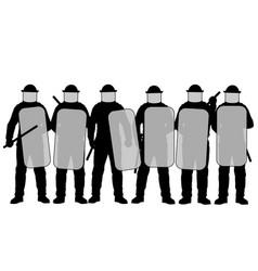 Riot police vector