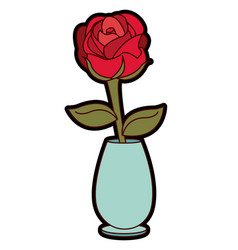 Rose decoration design vector