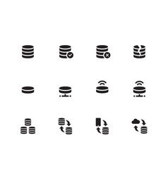 server icons on white background vector image