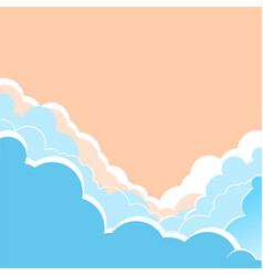 sky background with beautifull clouds for te vector image vector image