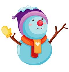 Snow Man vector image vector image