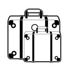 Travel suitcases symbol vector