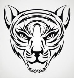 Tribal tiger face vector