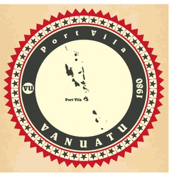 Vintage label-sticker cards of Vanuatu vector image vector image
