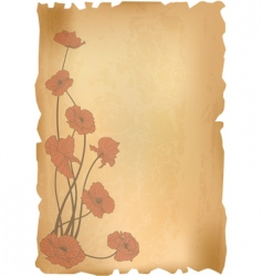 vintage poppies background vector image